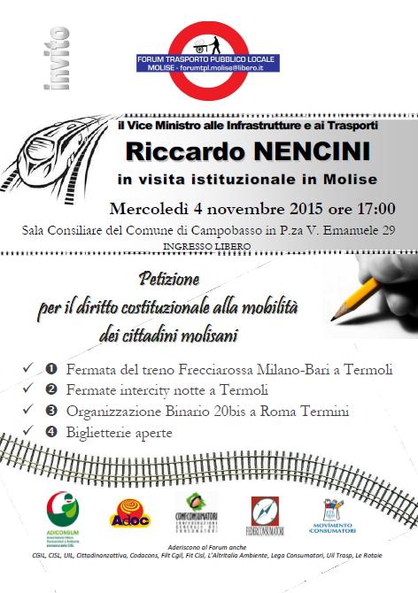 Forum TPL - viceministro Nencini in Molise